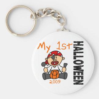 Baby's 1st Halloween 2009 Pirate BOY Basic Round Button Keychain