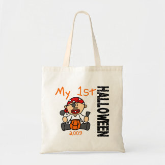 Baby's 1st Halloween 2009 Pirate BOY Budget Tote Bag