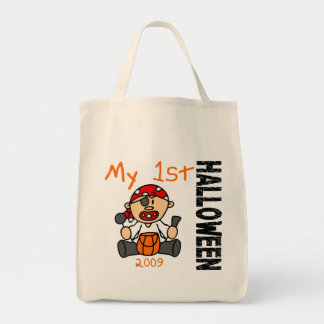 Baby's 1st Halloween 2009 Pirate BOY Grocery Tote Bag