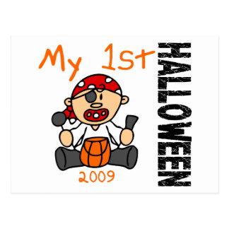 Baby's 1st Halloween 2009 Pirate BOY Postcard