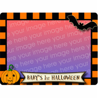 Baby s 1st Halloween Black and Orange Photo frame Acrylic Cut Out