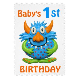 Baby s 1st Monster Birthday Party Invite