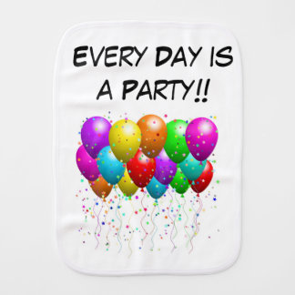 Baby s Burp Cloth - Every Day Is A Party