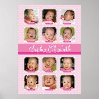 BABY S FIRST 12 MONTHS BIRTHDAY KEEPSAKE girl Print