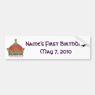 Baby s First Birthday Bumper Stickers