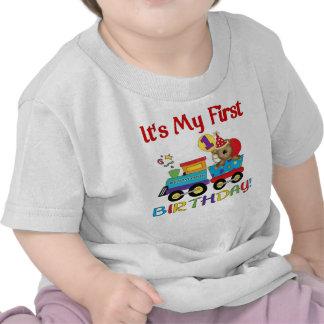 Baby s first birthday train tshirt
