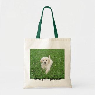 baby Sadie, Love your planet! Tote Bag