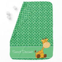 Baby Safari Animals | Giraffe | Personalized Swaddle Blanket