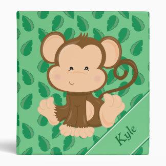 Baby Safari Animals   Monkey   Personalized Binder