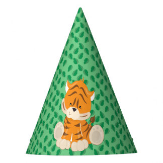 Baby Safari Animals Party | Tiger Party Hat
