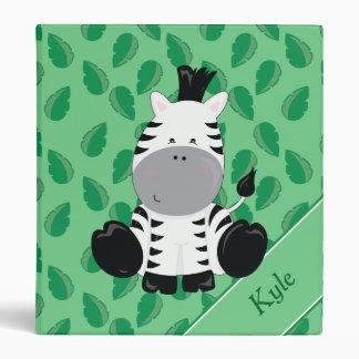 Baby Safari Animals   Zebra   Personalized Binder