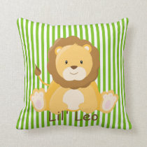 Baby Safari Lion•Nursery Throw Pillow