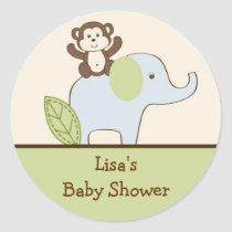 Baby Safari Monkey Envelope Seals Stickers