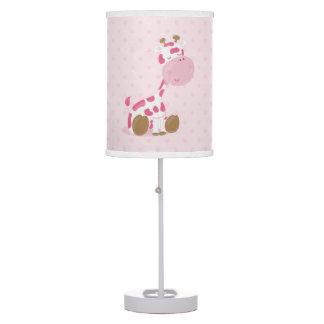 baby safari pink sleepy giraffe nursery art gift desk lamp. Black Bedroom Furniture Sets. Home Design Ideas