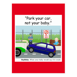 Baby Safety Postcard