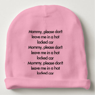 Baby safety reminder hat