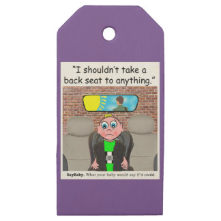 Baby Safety Wooden Gift Tags