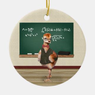 Baby Sandhill Crane as a Teacher Ceramic Ornament