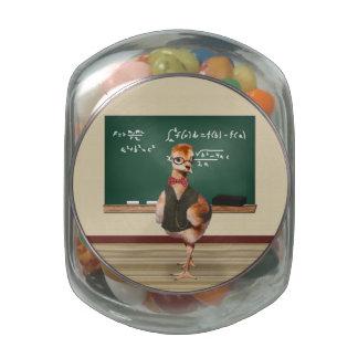 Baby Sandhill Crane as a Teacher Glass Candy Jar