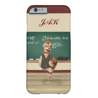 Baby Sandhill Crane as a Teacher, Monogram Barely There iPhone 6 Case