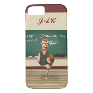 Baby Sandhill Crane as a Teacher, Monogram iPhone 8/7 Case