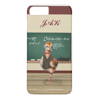 Baby Sandhill Crane as a Teacher, Monogram iPhone 8 Plus/7 Plus Case