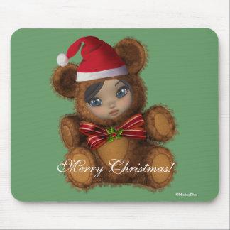 Baby Santa Bear Christmas Mousepad
