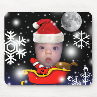 Baby Santa on Christmas Eve Mouse Pad