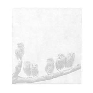 Baby Screech Owls Notepad