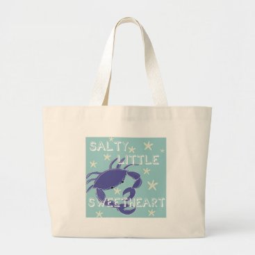 Beach Themed Baby Sea 4 Large Tote Bag