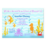 BABY SEA CRITTERS 5x7 Baby Shower Invitation