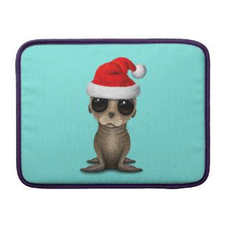 Baby Sea Lion Wearing a Santa Hat MacBook Air Sleeve