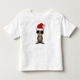 Baby Sea Lion Wearing a Santa Hat Toddler T-shirt