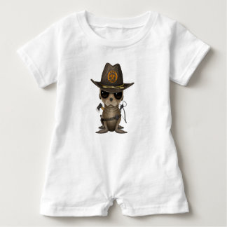 Baby Sea lion Zombie Hunter Baby Romper