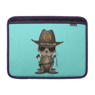 Baby Sea lion Zombie Hunter MacBook Sleeve