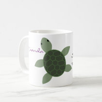 Baby Sea Turtle Personalized Mug