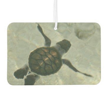 Beach Themed Baby Sea Turtle Swimming Out To Sea Air Freshener