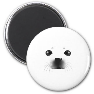 Baby Seal 2 Inch Round Magnet
