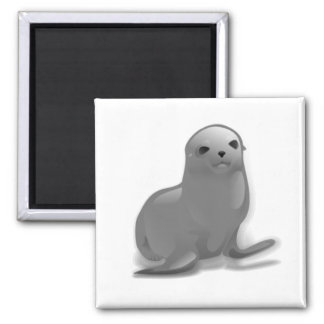 Baby Seal 2 Inch Square Magnet