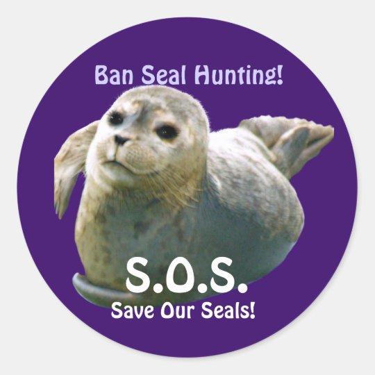 BABY SEAL Anti Seal-Hunt Wildlife Sticker