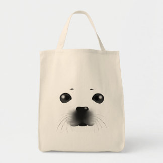 Baby Seal Grocery Tote Bag