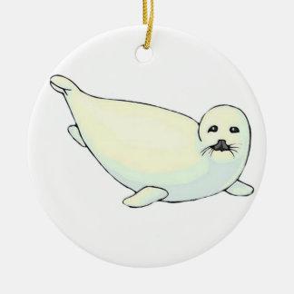Baby Seal Ceramic Ornament