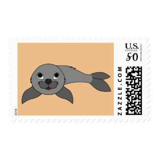 Baby Seal in Gray Postage