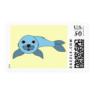Baby Seal in Light Blue Postage
