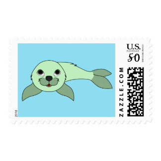 Baby Seal in Light Green Postage