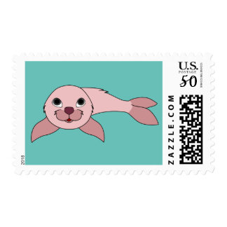 Baby Seal in Light Pink Postage