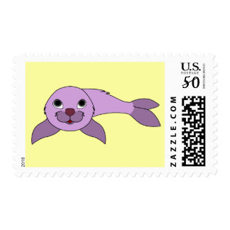 Baby Seal in Light Purple Postage