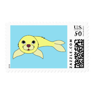 Baby Seal in Light Yellow Postage