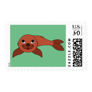 Baby Seal in Natural Red Postage