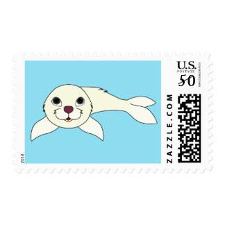 Baby Seal in White Postage